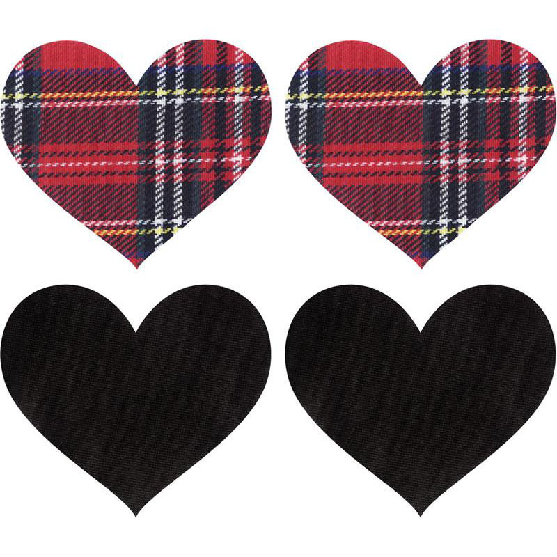 Plaid Heart Pasties