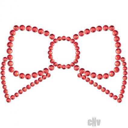 Mini Bow Red Rhinestone Pasties