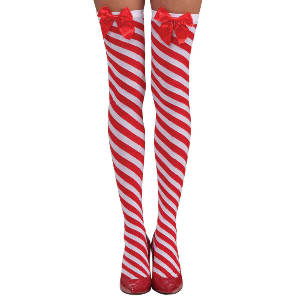 Candy Cane Thigh Highs
